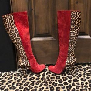 Christian Louboutin Acheval Pony Hair Boots 100mm